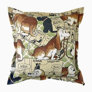 Vintage British Fred Basset Cushion, 1970s