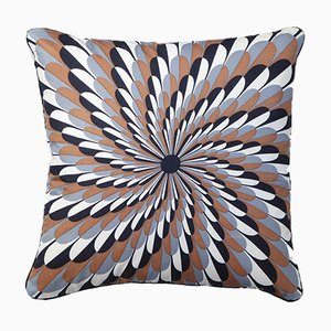 Vintage British Spiral Burst Cushion from Jacqmar of London, 1960s