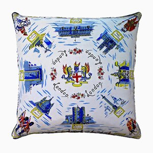 Vintage British Westminster Abbey Cushion, 1950s