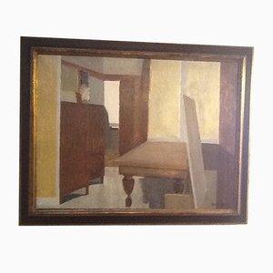 Interieur Ölgemälde von Claude Lyr, 1989