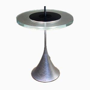 Space Age Tischlampen aus Glas & Gebürstetem Chrom von Philips, 1980er, 2er Set