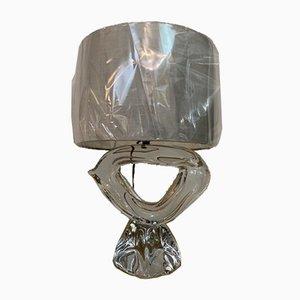 Französischer Couchtisch aus Kristallglas von Daum, 1960er