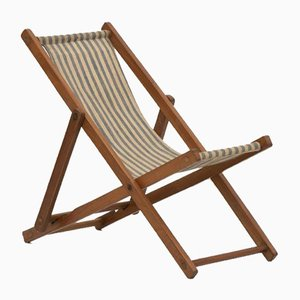 Vintage French Miniature Deck Chair