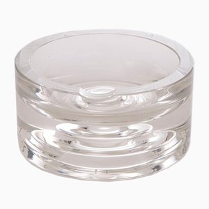 Vintage Clear Glass Round Ashtray, 1960s