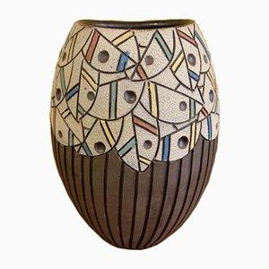 Vintage Abstract Matte Vase