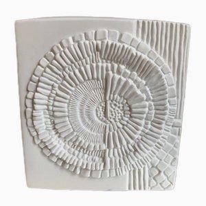 Weiße Biskuitporzellan Vase von Kaiser Keramik, 1960er
