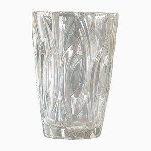 Kleine Französische Vintage Klarglas Vase, 1970er