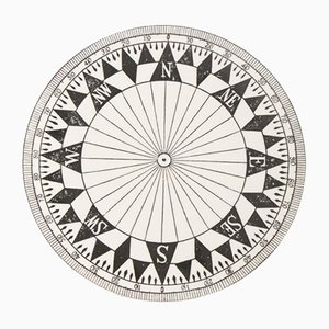 Black & White Compass Plate from Timney Fowler, 1980s