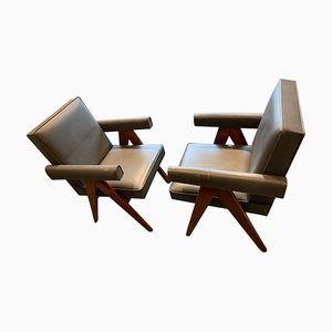 Commitee Chairs by Pierre Jeanneret, 1950s, Set of 2