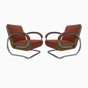 Model H221 Armchairs by Jindrich Halabala, 1920s, Set of 2