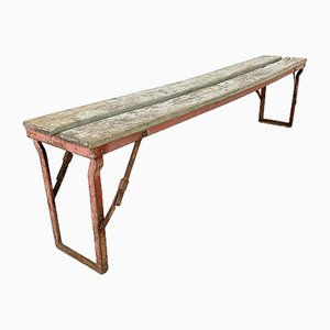 Vintage Industrial Folding Bench