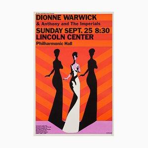 Affiche Dionne Warwick par Milton Glaser, 1960s