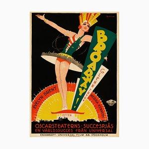 Affiche Broadway par Eric Rohman, 1929