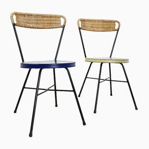 Französische Beistellstühle, 1950er, 2er Set
