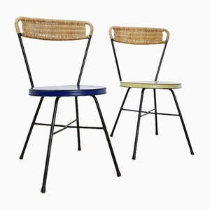 French Side Chairs, 1950s, Set of 2