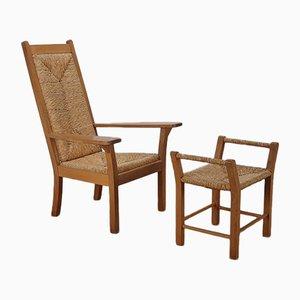 Großer niedriger Stuhl von Willy Ohler, 1950er