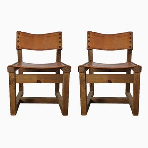 Brutalist Low Chairs, 1970s, Set of 2