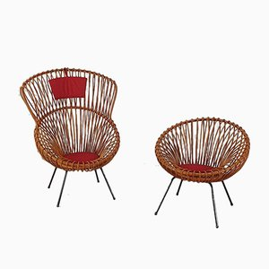 Rare Rattan Set from Rohé