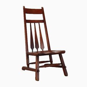 Sculptural Low Chair, 1940s