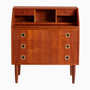 Mid-Century Danish Teak and Metal Secretaire, 1960s