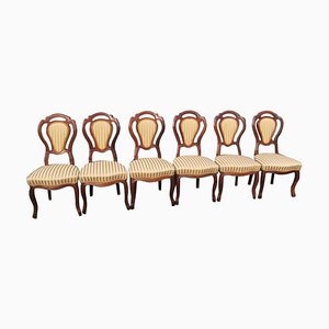 Louis Philippe Chairs, 1860s, Set of 6