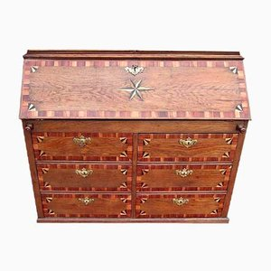 Antique Baroque Secretaire with Inlay Work