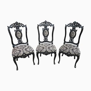 Baroque Style Chairs, 1900s, Set of 3