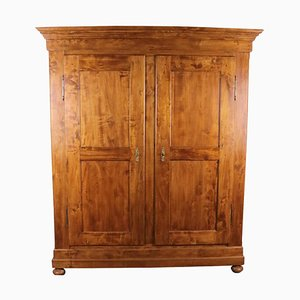 Biedermeier Poplar Wood and Cherry Wood Stain Cabinet, 1870s