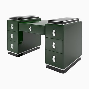 Modern Jaguar Racing Green Design Tower Desk