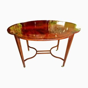 Art Nouveau Mahogany Veneer Coffee Table