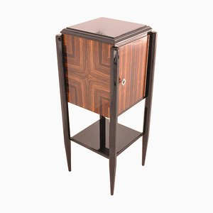 Small Art Deco Macassar Bar Cabinet