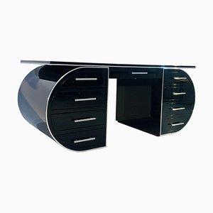 Schwarzer Hochglanz Schreibtisch