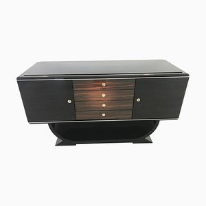 Small Art Deco Macassar Sideboard