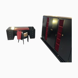 Art Deco French Desk and Office Cabinet by Christian Krass, 1930s