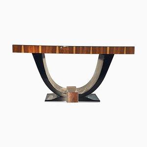 Art Deco Gondola Tisch aus Palisander