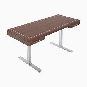 Schwebender Schreibtisch mit Stahlfüßen