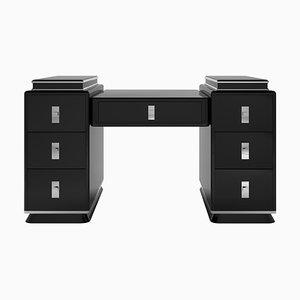 Moderner Art Deco Schreibtisch mit schwarzem Turm