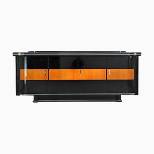 Art Deco Sideboard mit Ahorn Applikation