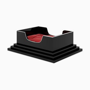 Kleines Art Deco Klavierlack Hundebett