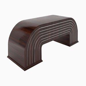 Skulpturaler Walnuss Schreibtisch