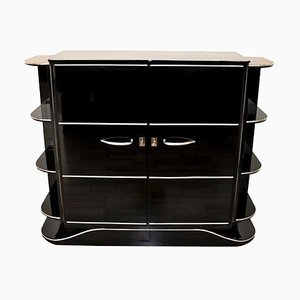 Art Deco Black High Gloss Dry Bar
