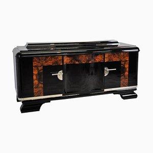 Großes Art Deco Buffet aus Wurzelholz