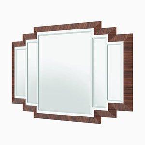 Art Deco Macassar Wall Mirror
