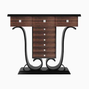 High Gloss Piano Lacquer Macassar Console Table