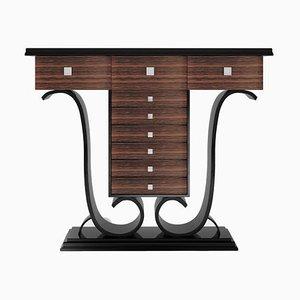 Makassar Hochglanz Klavierlack Wandtisch aus Palisander