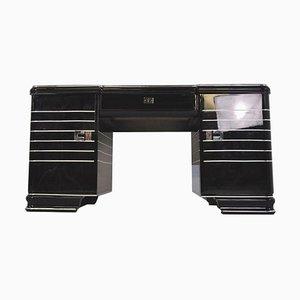 Chrom Liner Art Deco Schreibtisch