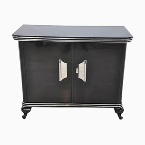 Small Art Deco Commode with Chrome Handles