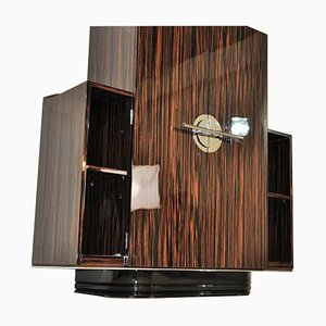 Art Deco French Macassar Veneer Bedroom Cabinet