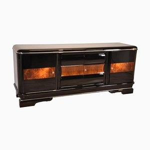 Large Art Deco Walnut Detailed Sideboard