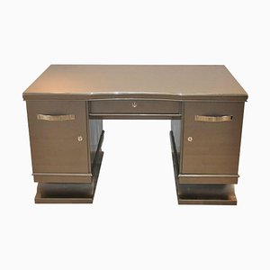 Art Deco Belgian Metallic Grey Desk